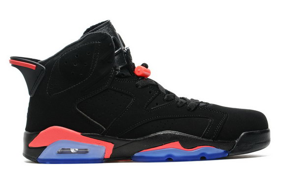 Air Jordan 6 Retro Shoes Black/Infrared